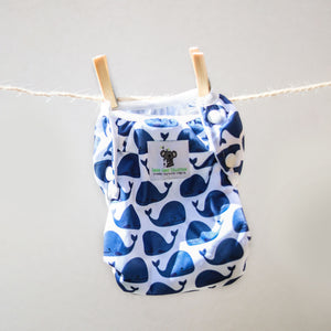 Reusable Swim Nappy Bundle - Set of 2 - Blue Whale & Toucan Aqua