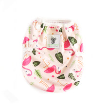 Load image into Gallery viewer, Reusable Swim Nappy- Pink Flamingo LARGE
