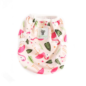 Reusable Swim Nappy- Pink Flamingo LARGE