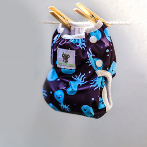 Reusable Swim Nappy Bundle- Set of 2 - Blue Whale & Octopus