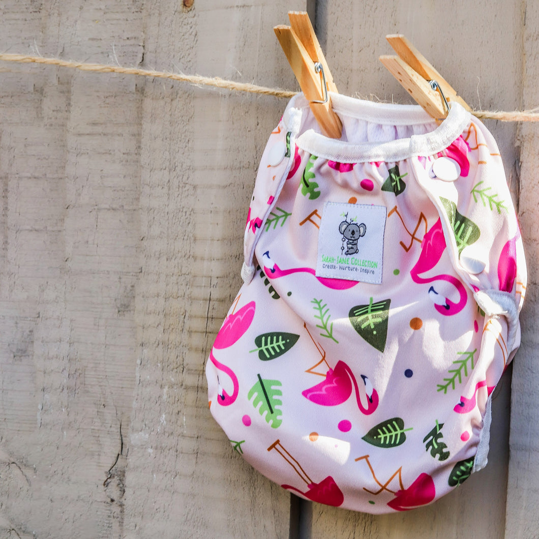Reusable Swim Nappy- Pink Flamingo