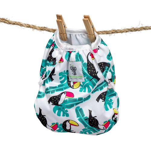 Reusable Swim Nappy- Toucan Aqua