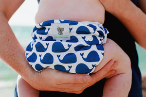 Reusable Swim Nappy Bundle - Set of 2 - Blue Whale & Fox