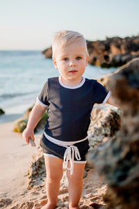 Ocean Two Piece- Ribbed // Navy