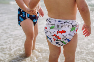 Reusable Swim Nappy Bundle- Set of 2 - Octopus & Shark