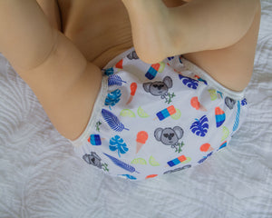 Reusable Swim Nappy- Blue Koala LARGE