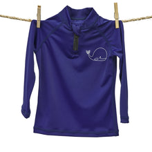 Load image into Gallery viewer, Rash Guard Top - UPF50+ Blue Whale