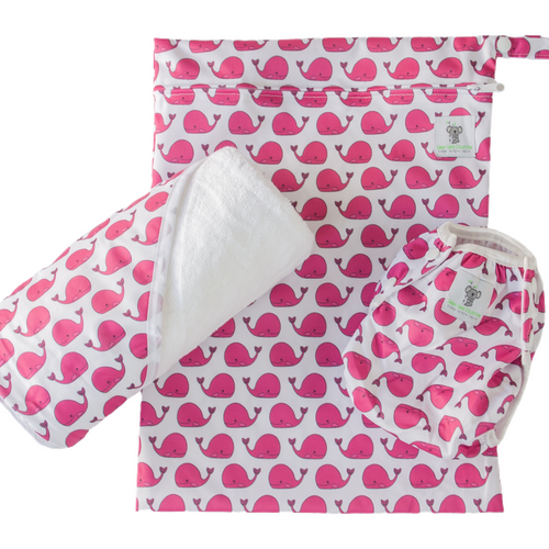 Baby & Toddler Swim Bundle- Fuschia Pink Whale