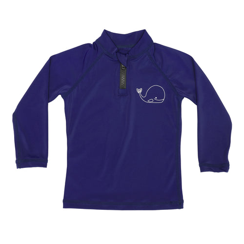 Rash Guard Top - UPF30+ Blue Whale