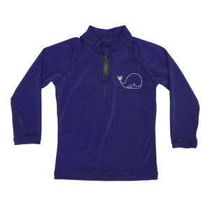 Rash Guard Top - UPF50+ Blue Whale