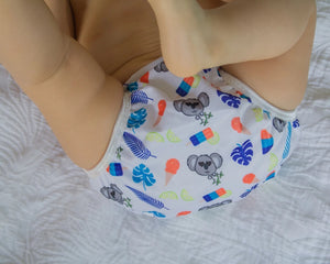 Reusable Swim Nappy- Blue Koala