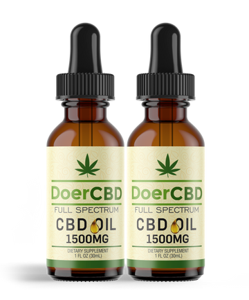 2 Pack; Full Spectrum CBD Oil - 1500mg - Unflavored