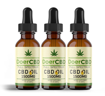 3 Pack; Full Spectrum CBD Oil - 1500mg - Unflavored