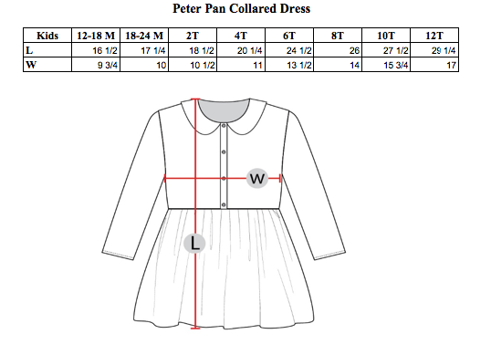 PETER PAN COLLARED DRESS - SUGAR DOTS