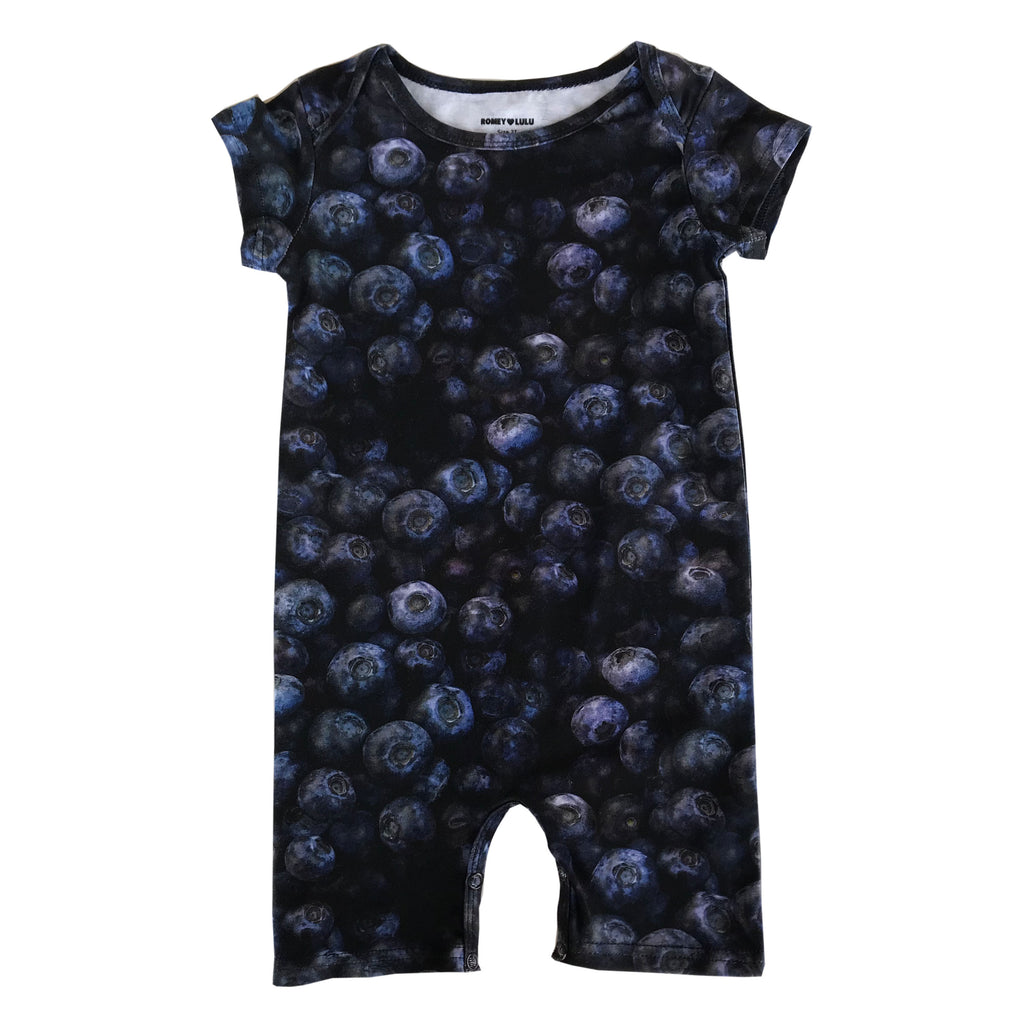 Short Romper - Blueberries
