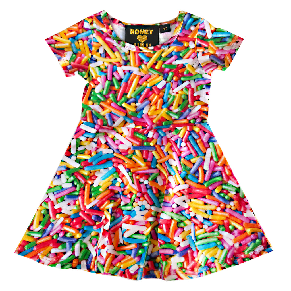 Skater Dress - Rainbow Sprinkles
