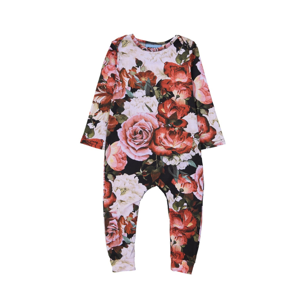LONG BODY ONESIE - FLORAL