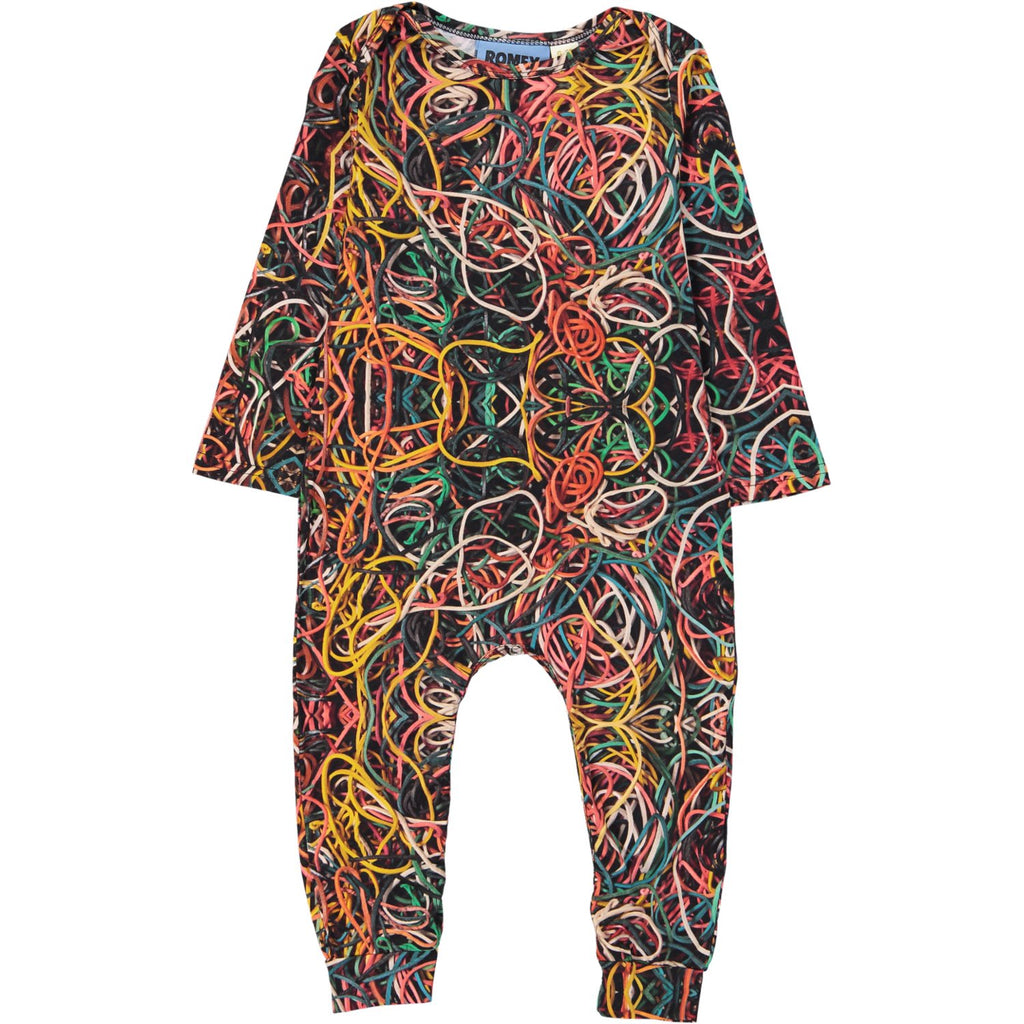 LONG BODY ONESIE - RUBBER BANDS