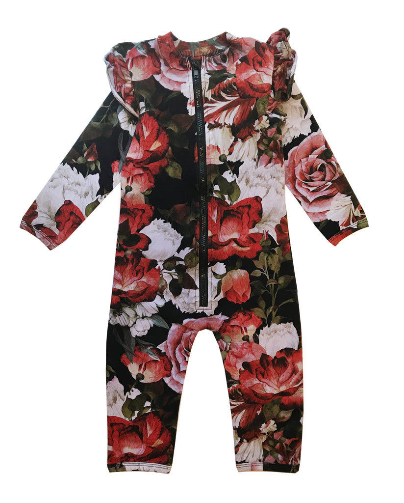 RUFFLED SPACE SUIT - FLORAL