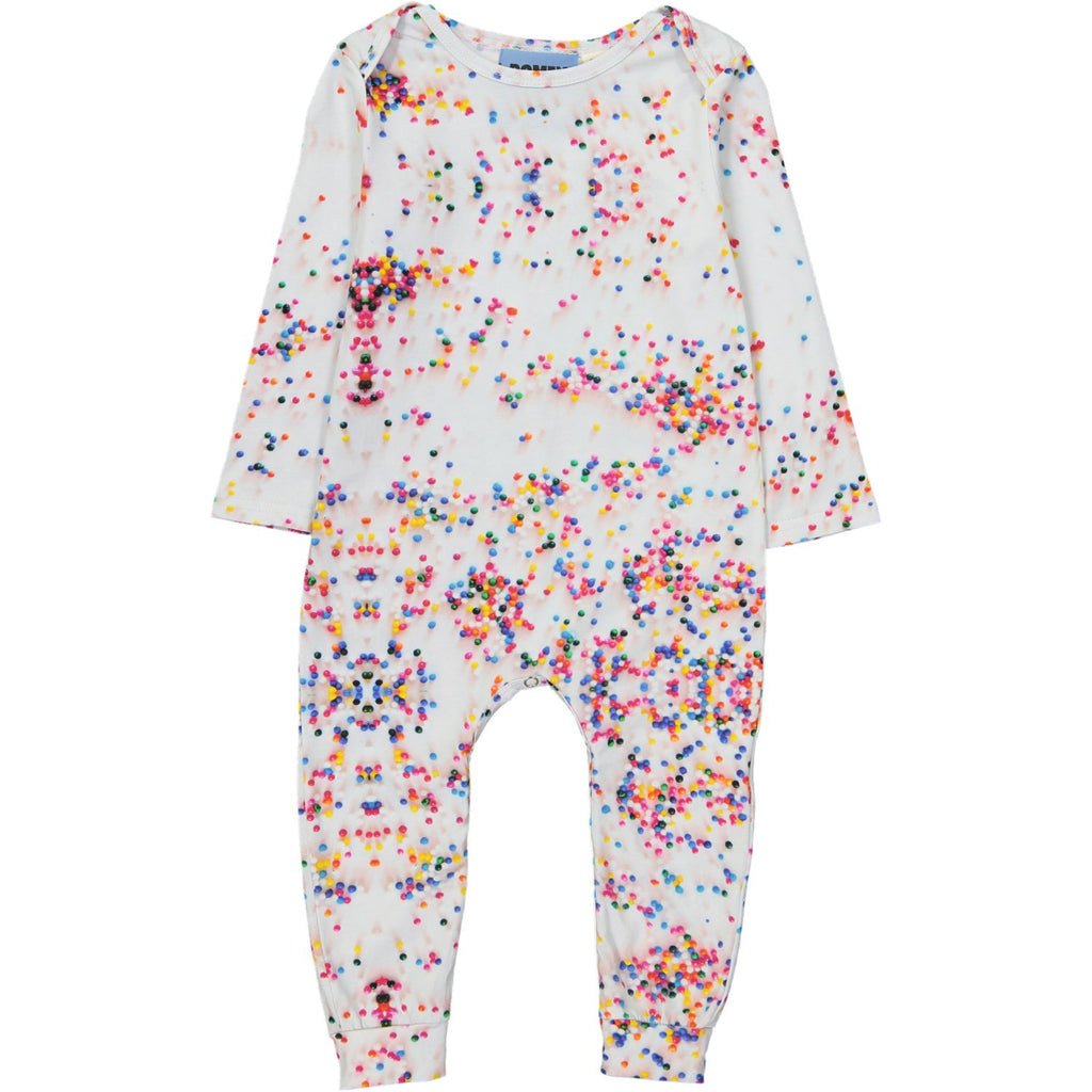 LONG BODY ONESIE - SUGAR DOTS