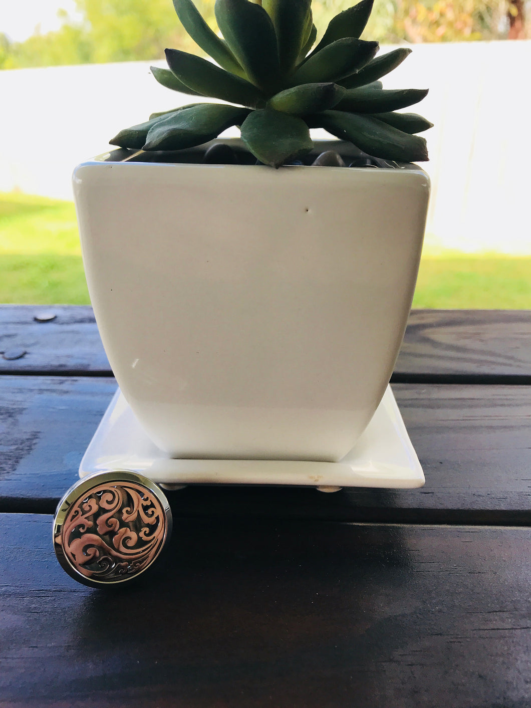 Locket Car Air Freshener Essential Oil Diffuser