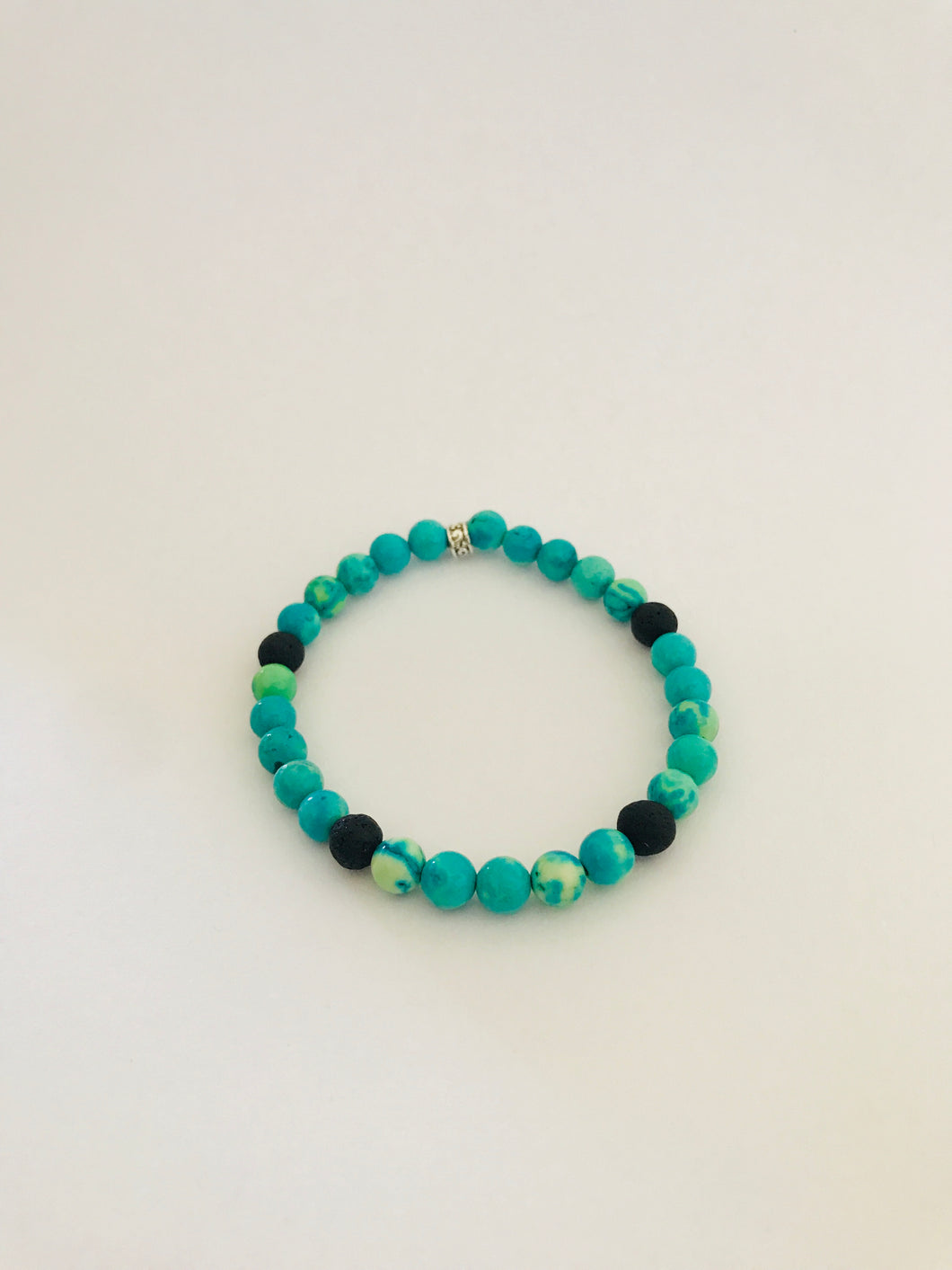 Lava Bead and Turquoise Diffuser Bracelet