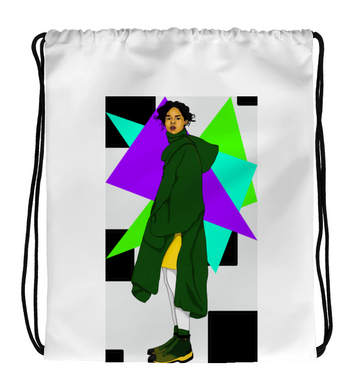 Drawstring Gym Bag style girl