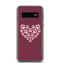 Dog Paw Heart Print Pattern Phone Case