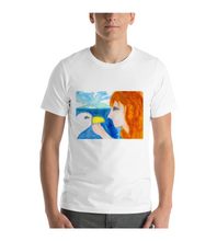T-Shirt greek mithology myth legend leda swan canvas illustration drawing draw color colored greece