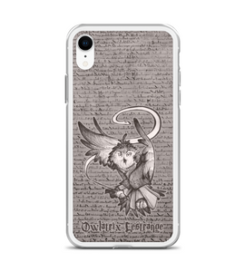 Owlatrix Lestrange - magic OWL villain with snake spell comming from wand Phone Case