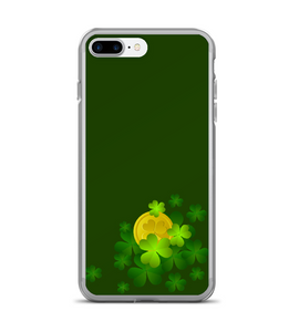 St Patricks Day Clover Coin Print Phone Case