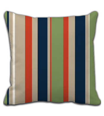 Throw Pillow Autumn stripes