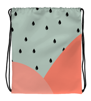 Drawstring Gym Bag Watermelon Rain Bag