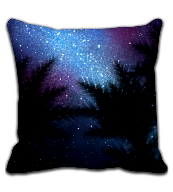 Throw Pillow Night under trees
