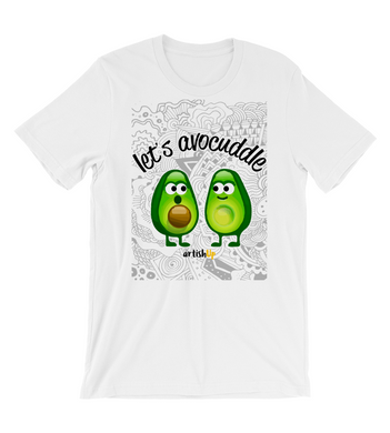 T-Shirt Let's avocuddle white