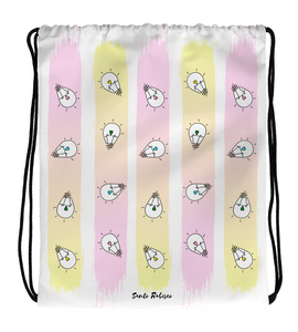 Drawstring Gym Bag Enlightening hearts!  - Art made by hand and digitally finished.