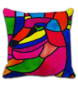 Throw Pillow Aquarela acrílico watercolor oilpastel obrasdearte artistasbrasileiros