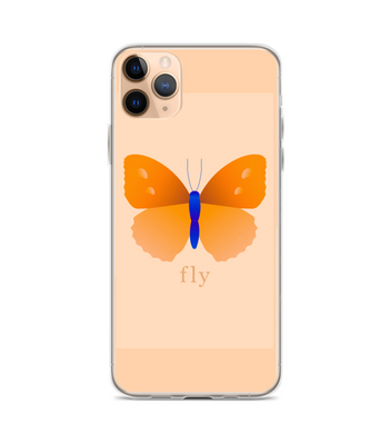 Butterfly fly blue orange beige case Phone Case