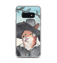 Cute Lady Red Fox in hat - medieval style - original watercolor ink art - part of 3 set Phone Case