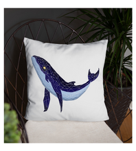 Throw Pillow Blue_Glass_Whale