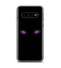 Halloween Spooky Purple Cat Eyes Print Phone Case