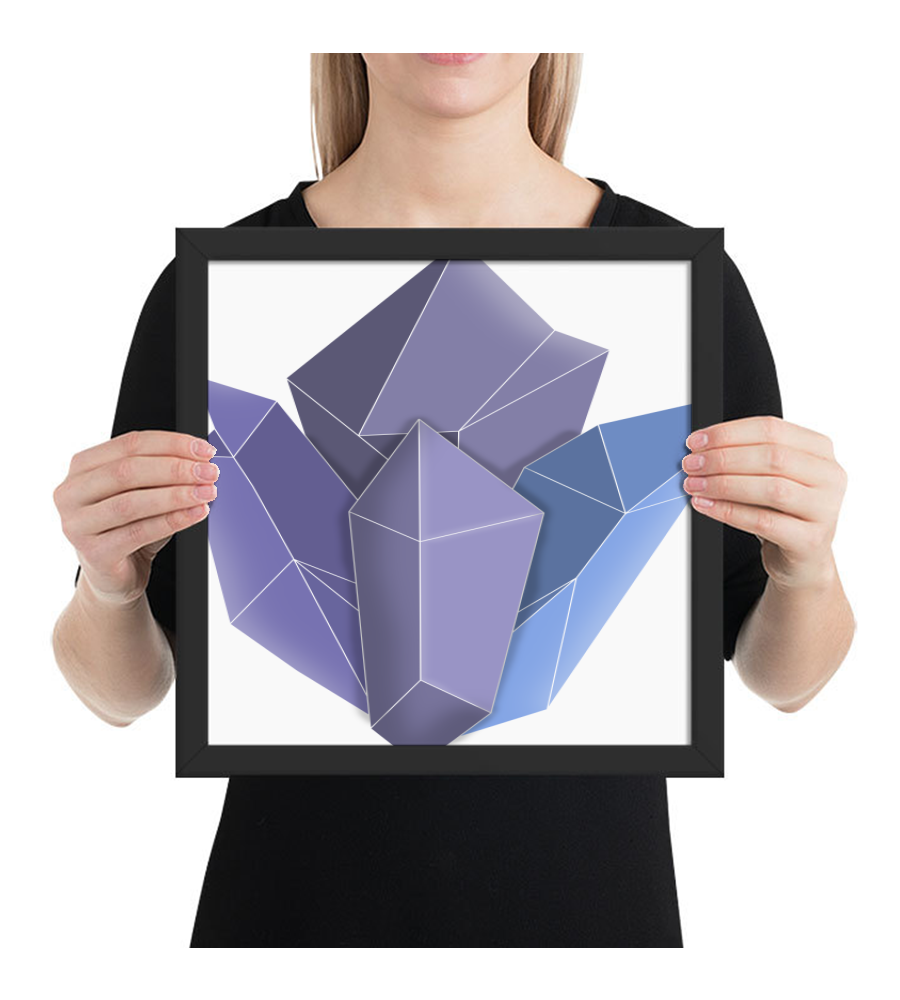 Framed Poster Magic_glass_crystals