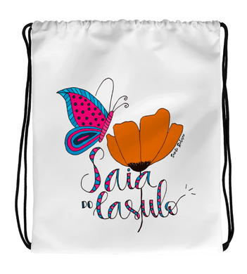 Drawstring Gym Bag Saia do Casulo