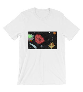 T-Shirt cartoon comic battle ship space military cover illustration drawing galaxy color colored war