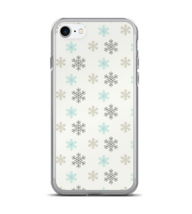 Snowflake Holiday Print Phone Case