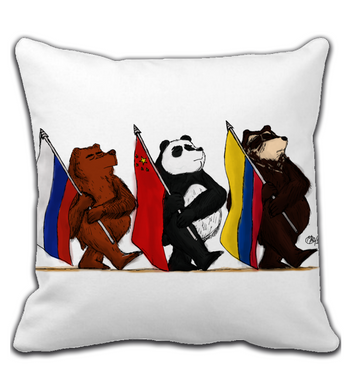 Throw Pillow International Bears
