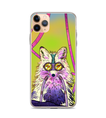 fox art cyberpunk animal Phone Case