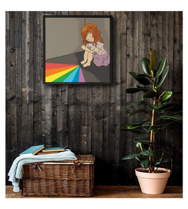Framed Poster Sad colorful girl