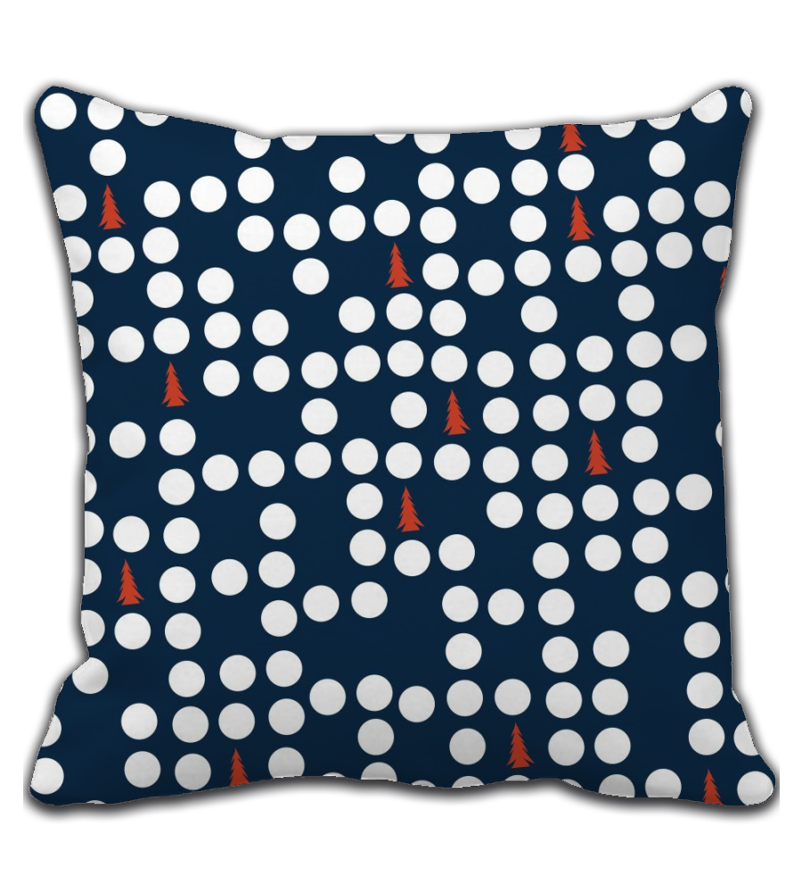 Throw Pillow Cute Christmas Design