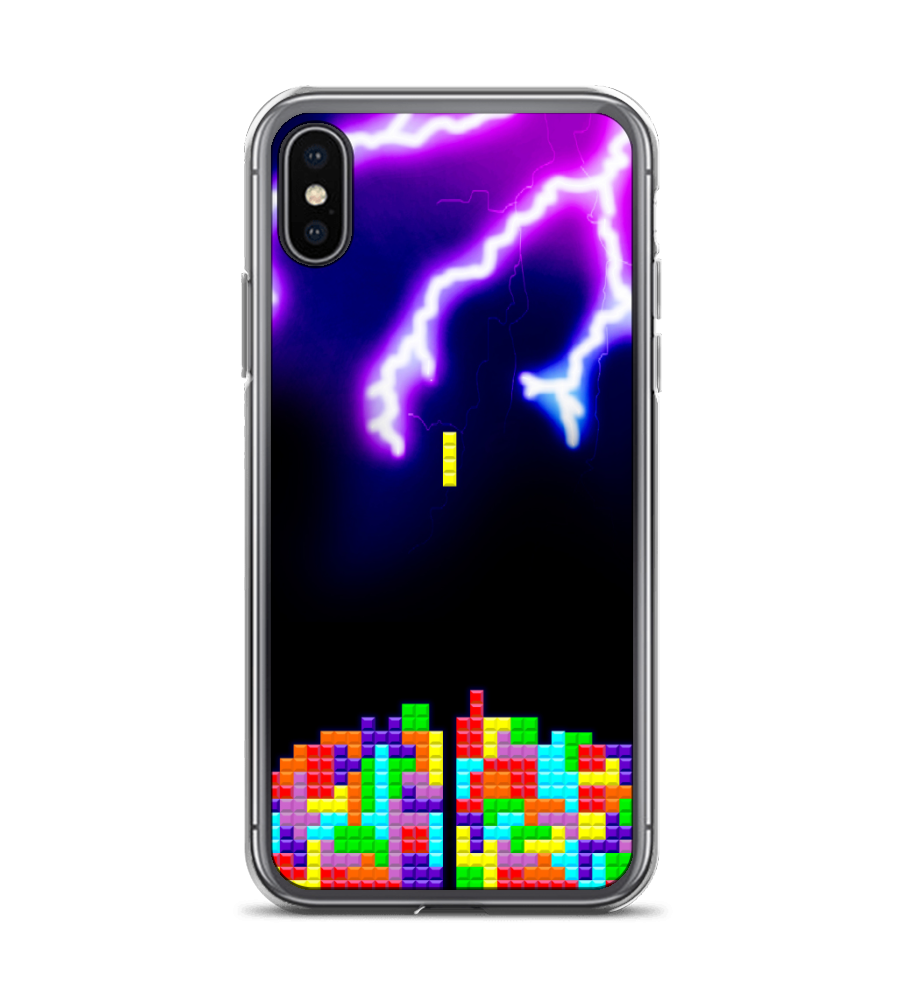 Power tetra game thunder case blocks puzzle rays videogame smartphone tetra tetra Phone Case